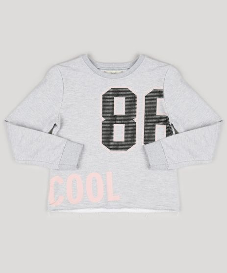 Blusao-Infantil-em-Moletom--86-Cool--Decote-Redondo-Manga-Longa-Cinza-Mescla-9132917-Cinza_Mescla_1