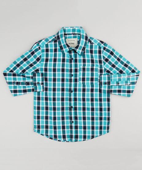 Camisa-Infantil-Xadrez-Manga-Longa-com-Bolso-Verde-8439899-Verde_1
