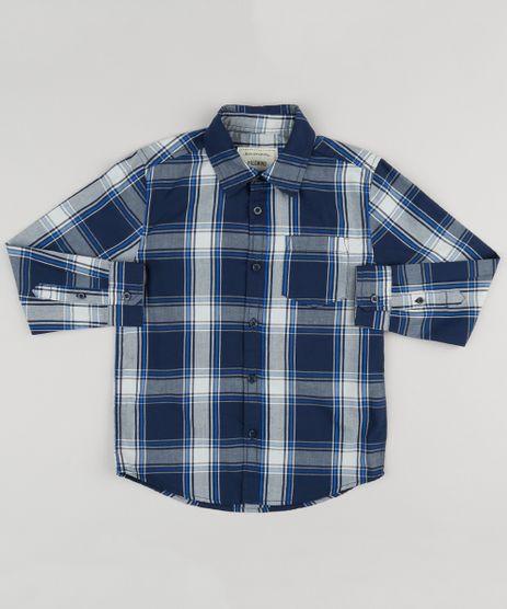 Camisa-Infantil-Xadrez-Manga-Longa-com-Bolso-Azul-Marinho-8439899-Azul_Marinho_1
