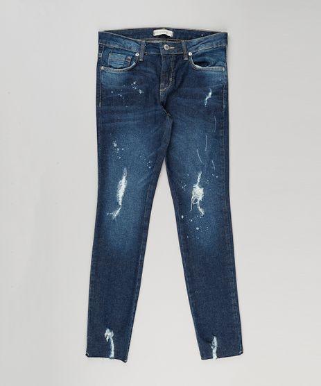 Calca-Jeans-Infantil-Destroyed-com-Respingos-Azul-Escuro-9158764-Azul_Escuro_1