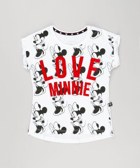 Blusa-Infantil-Minnie-com-Estampa-Manga-Curta-Decote-Redondo-em-Algodao---Sustentavel-Off-White-9140981-Off_White_1
