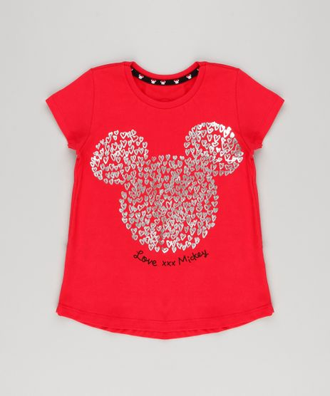 Blusa-Infantil-Mickey-Coracoes-Metalizados-Manga-Curta-Decote-Redondo-em-Algodao---Sustentavel-Vermelha-9140983-Vermelho_1