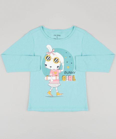 Blusa-Infantil--Bunny-Girl--Manga-Longa-Decote-Redondo-em-Algodao---Sustentavel-Verde-Claro-9137406-Verde_Claro_1