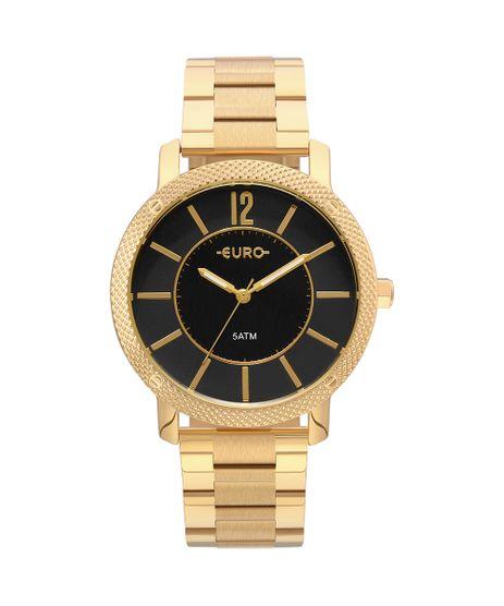 f080dfb7d31 Relógio Euro Feminino Texturas Dourado - EU2036YMG 4P