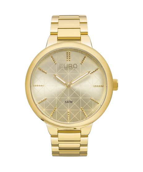 4a389614991 Relógio Euro Feminino Metal Trendy EU2036LYT 4X - Dourado