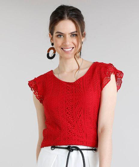 c6e8cc99e Blusa Vermelha Feminina em promoção - Compre Online - Melhores ...