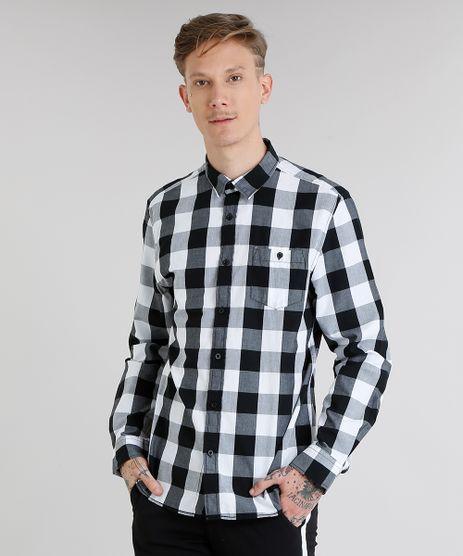 aad2275433 Camisa Xadrez Masculina em promoção - Compre Online - Melhores ...