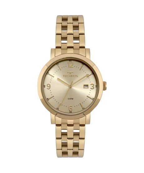 f1eee09e4a0e9 Relógio Technos Feminino Dress Dourado - 2115MPG 4X