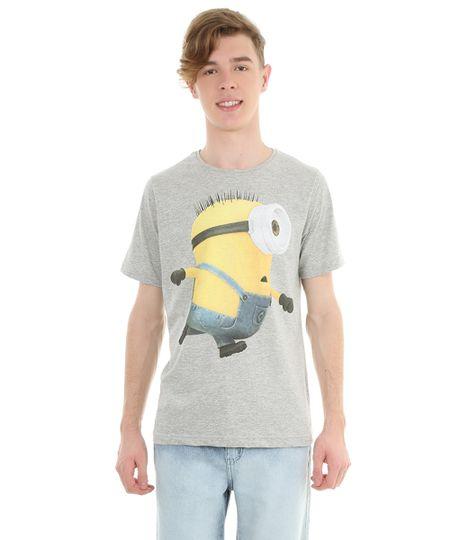 Camiseta com Estampa Minions Cinza