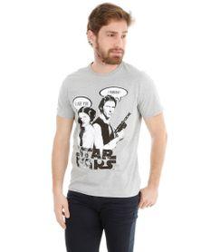 Camiseta-com-Estampa-Han-Solo-e-Princesa-Leia-Cinza-Mescla-8133945-Cinza_Mescla_1