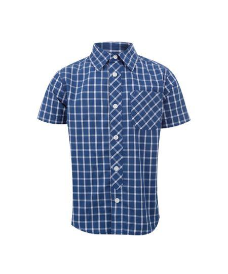 Camisa Xadrez Menino Azul
