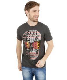 Camiseta-com-Estampa-de-Caveira-Cinza-Escuro-8116384-Cinza_Escuro_1