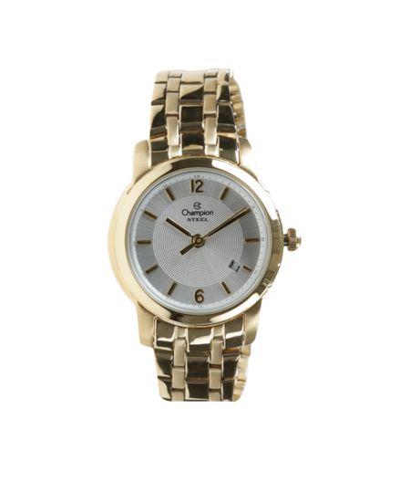 Kit Pulseira + Relógio Champion Feminino Analógico CA28841W - dourado