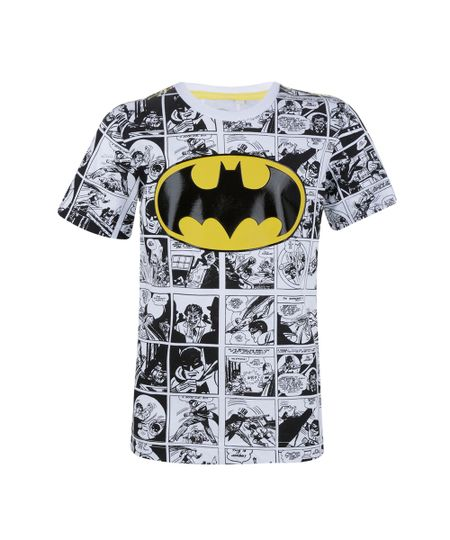 Camiseta com Estampa Batman Menino Branca
