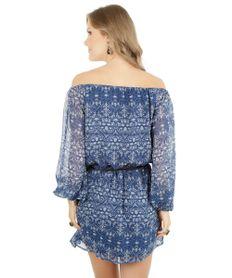 Vestido-Estampado-de-Arabescos-com-Cinto-Azul-Escuro-8050962-Azul_Escuro_2