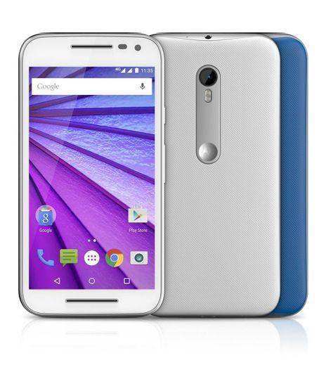 """Smartphone-Motorola-Moto-G--3ª-Geracao--XT1543-Dual-16GB-Colors-4G-Camera-13MP--Frontal-5MP-com-Flash-5-0""""-QuadCore-1-4-GHz-Desbloqueado-TIM-Branco-8186840-Branco_1"""
