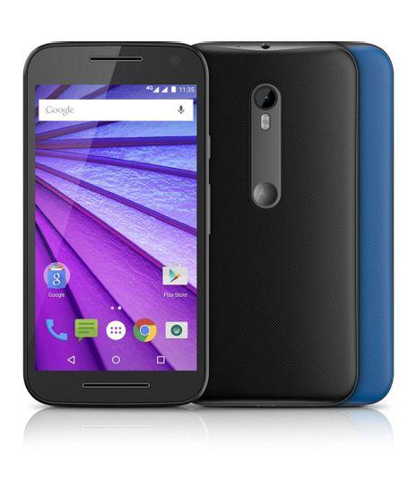 """Smartphone-Motorola-Moto-G--3ª-Geracao--XT1543-Dual-16GB-Colors-4G-Camera-13MP--Frontal-5MP-com-Flash-5-0""""-QuadCore-1-4-GHz-Desbloqueado-TIM-Preto-8186840-Preto_1"""
