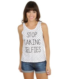 Regata-de-Poa-com-Estampa--Stop-Taking-Selfies--Branca-8158442-Branco_1