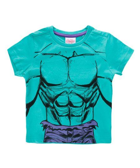 Camiseta com Estampa Texturizada Hulk Verde
