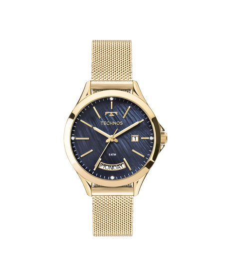 f456c52a7f5f4 Relógio Technos Feminino Trend Dourado 2350AF 4A