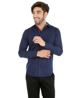 Camisa-Slim-com-Mini-Print-Azul-Marinho-7976485-Azul_Marinho_1