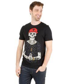 Camiseta-com-Estampa-de-Esqueleto-Preta-8171755-Preto_1
