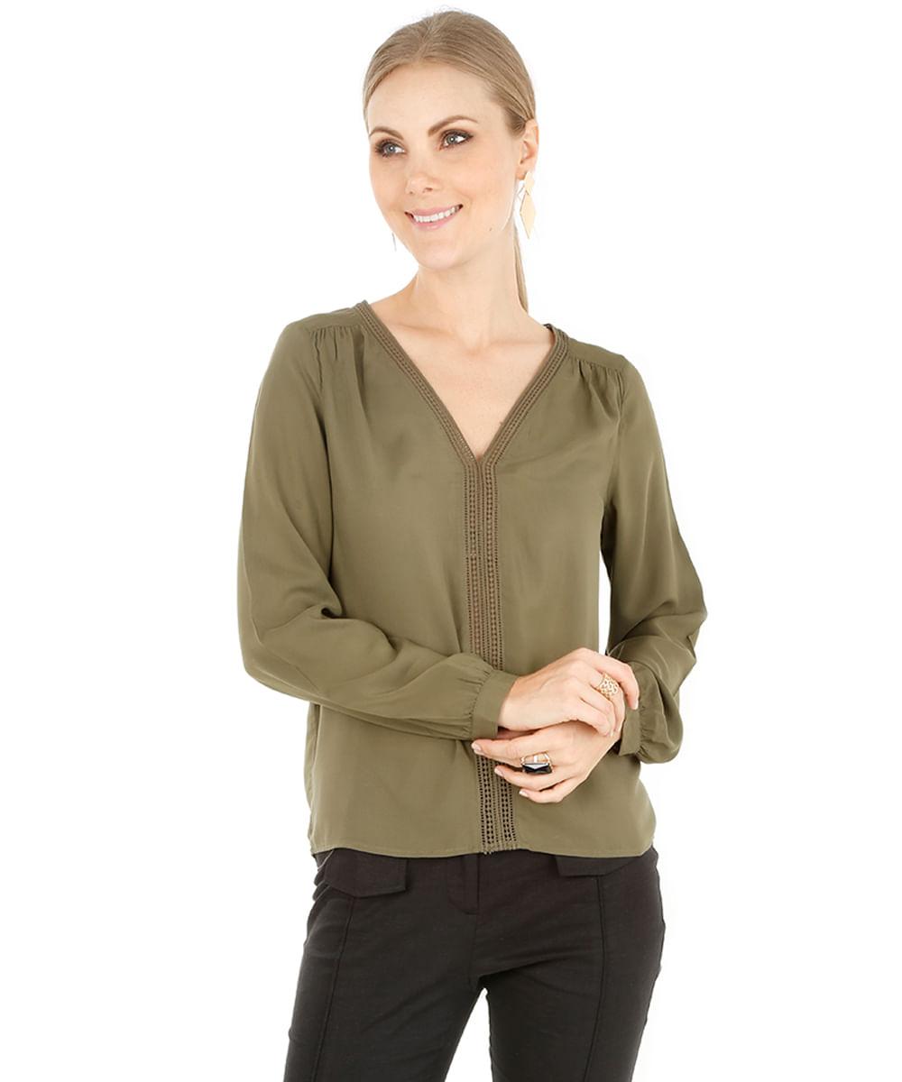 blusa   guipir verde militar 8111073 verde militar 1