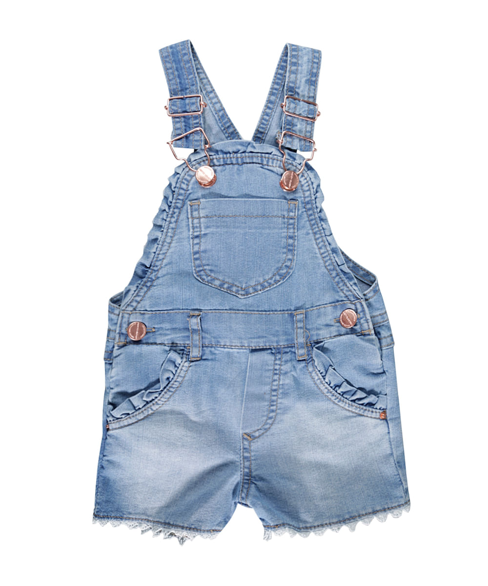 Jardineira jeans azul claro cea for Jardineira jeans infantil c a