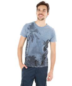 Camiseta-com-Estampa-de-Coqueiros-Azul-Claro-8172736-Azul_Claro_1