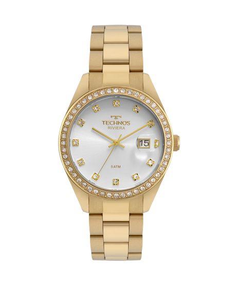 bc46a3d36af Relógio Technos Feminino Riviera Dourado - 2115MOI 4K