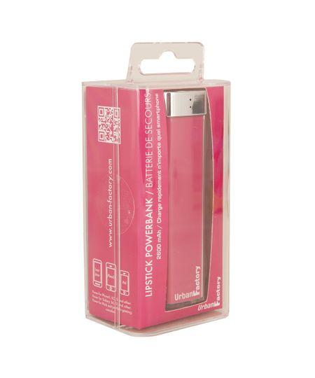Carregador Portátil Urban Factory Lipstick 2600 mAh Rosa