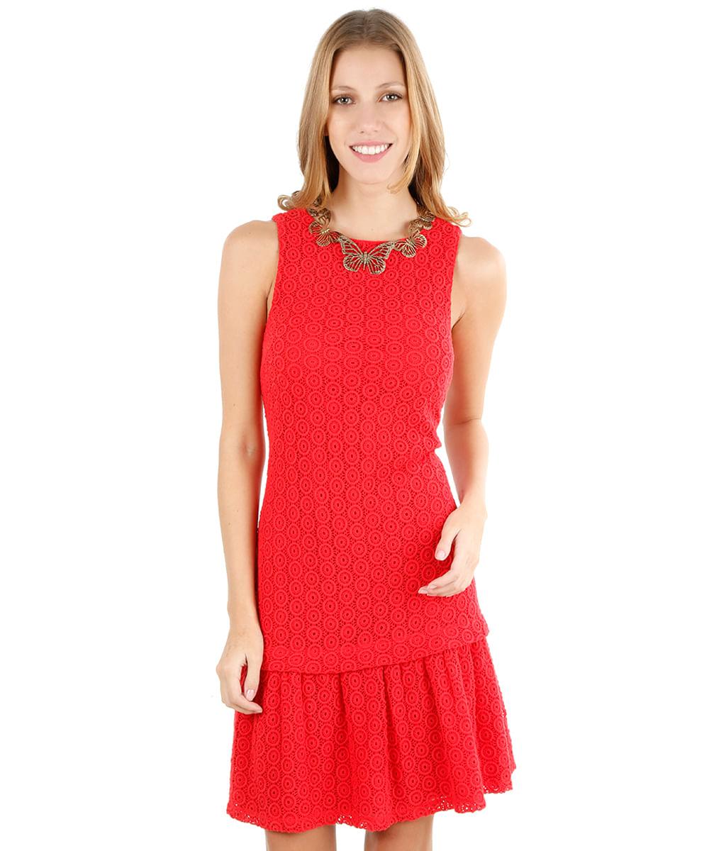 Vestido Longo Nix Vermelha 04120697 ATEEN - Ateen