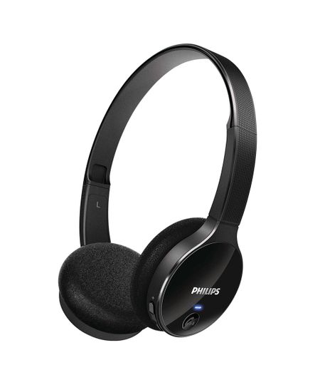Fone De Ouvido Philips On-Ear Bluetooth Com Alça Preto-Shb4000/00 Preto