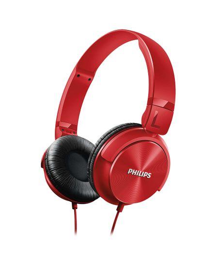 Fone De Ouvido Philips Estilo Dj Headband Vermelho - Shl3060Rd Vermelho