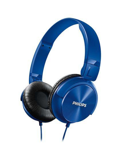 Fone De Ouvido Philips Estilo Dj Headband Azul - Shl3060Bl Azul