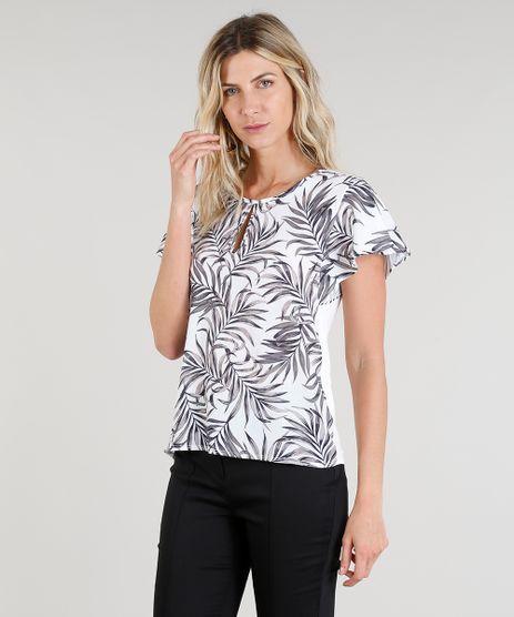 1d0a62fe22 Blusas Com Babado em promoção - Compre Online - Melhores Preços