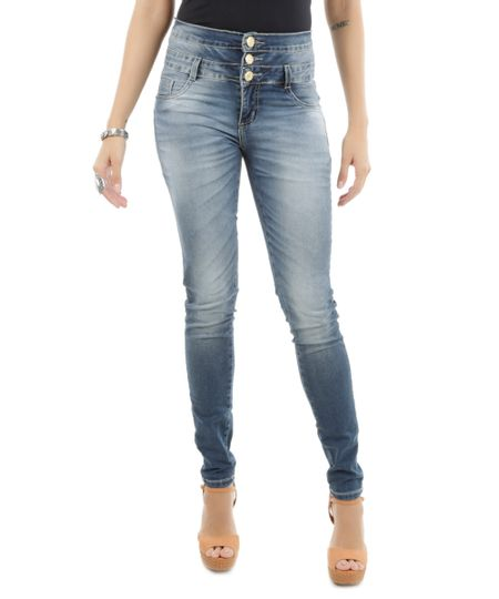 Calça Jeans Reta Sawary Azul Médio