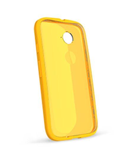 Capa Grip Shell Moto E 2ª Geração Amarela