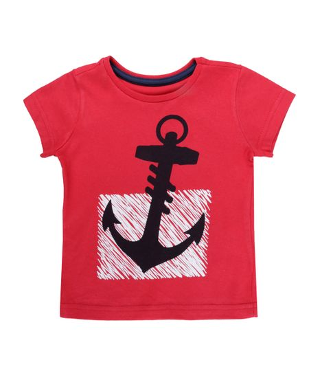 Camiseta de Ancora  Vermelha