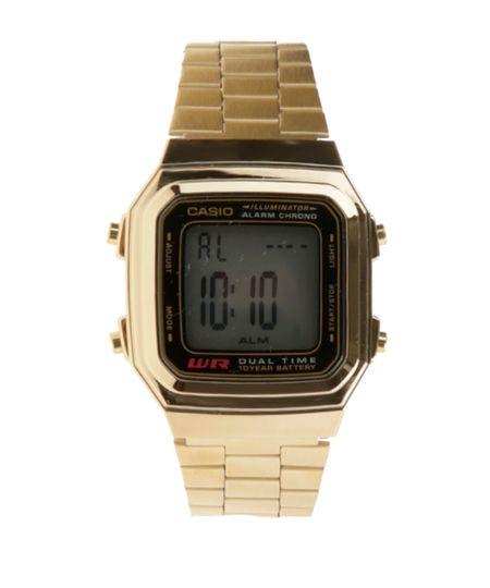 Relógio Digital Casio Feminino - A178WGA1ADFU -  Dourado