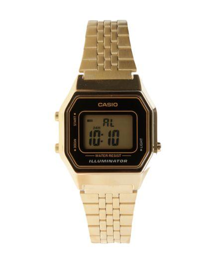 Relógio Digital Casio Feminino - LA680WGA1DF -  Dourado
