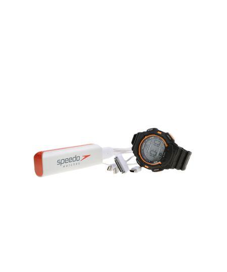 Kit de Relógio Speedo Masculino Digital + Carregador de Celular 81079G0EGNP2K - Preto