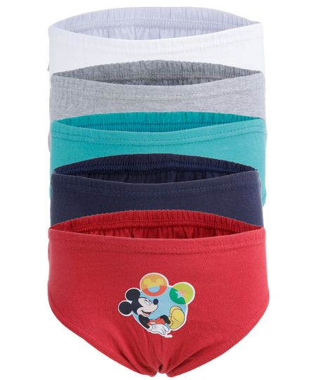 Kit de 5 Cuecas Mickey Multicor