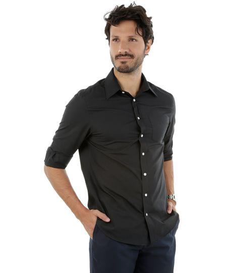 Camisa Social Comfort Preta