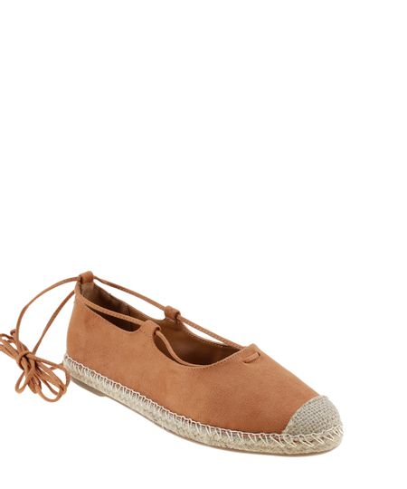 Espadrille Lace Up Bege Claro