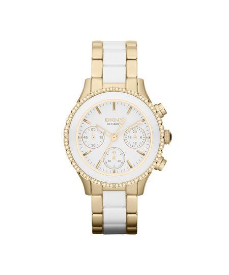 Relógio DKNY Feminino Branco e Dourado - GNY8830/Z