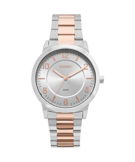 Relógio Euro Feminino Bicolor Trendy Prata - EU2036YLW 5K bf9dc1b712