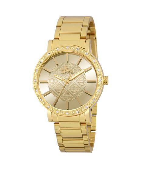 95b9a916af4 Relógio Allora Feminino Espelhados Geométricos AL2035FHL 4D - Dourado