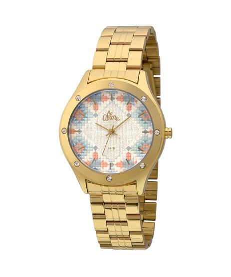 9947cce3bd9 Relógio Allora Feminino Tramas Étnicas AL2035FFS 4A - Dourado