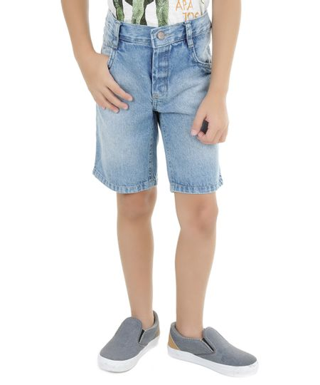 Bermuda Jeans Azul Claro